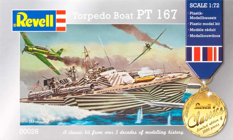 Revell 0026 - AMERIKAI Haditengerészet Torpedó Hajó PT 167