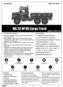 MK.23 MTVR Lasti Truck - Trumpeter 01011