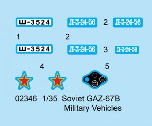 Soviet GAZ-67B - Trumpeter 02346
