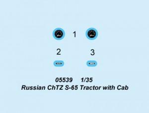 Russiske ChTZ S-65 Traktor med Cab - Trompetist 05539