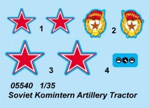 Soviet Komintern Artillery Tractor - Trumpeter 05540
