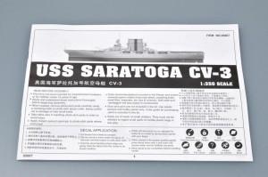 USS SARATOGA CV-3 - prvi trobentač deloval 05607