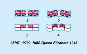 "HMS "" Queen Elizabeth 1918 - Trompetist 05797"