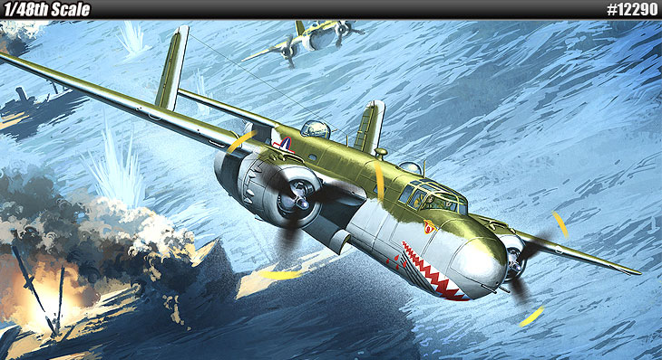 "ACADEMY 12290 B-25 academy b-25 Academy B-25G Mitchell ""Shark Mouth"" academy shark mouth b-25 review tmmyrohj 爱德美(ACADEMY)12290 B-25"