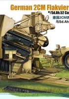 Tedesco 2 cm Flakvierling 38 Carrello Rimorchio - BRONCO CB35057