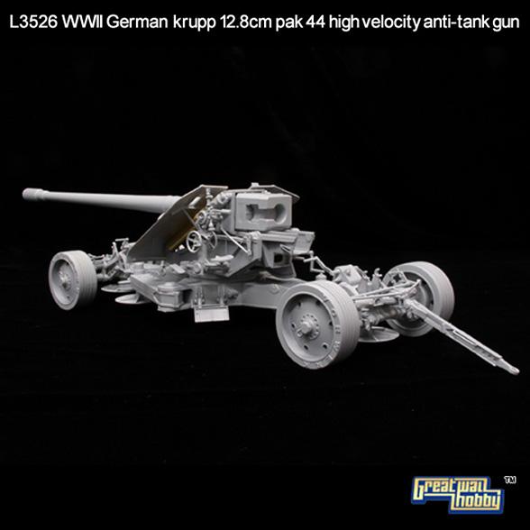 Ott 12.8 cm-es Pak 44 High Velocity - GREATWALL L3526