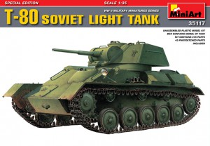 Soviet Light Tank T-80 Special Edition - MINIART 35117