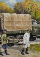 Studebaker US6 з Радянським медичним персоналом-ICM 35513