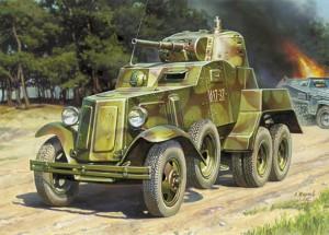 BA-10ソビエト装甲車-Zvezda3617