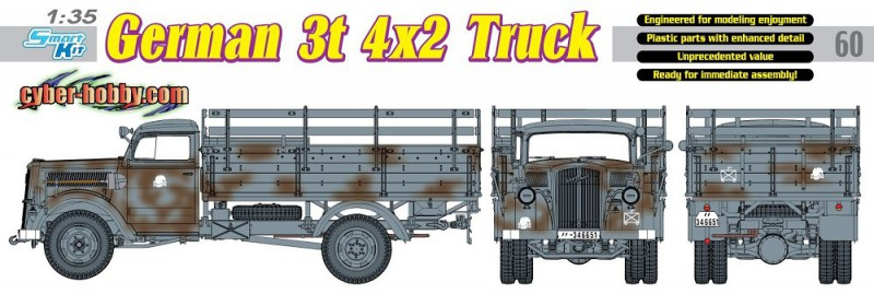 Sd.Kfz.305 German 3t 4×2 Truck - CYBER-HOBBY 6670