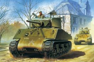 "AMERICKÝ Útok Tanku M4A3E2 Sherman ""JUMBO"" - TASCA"