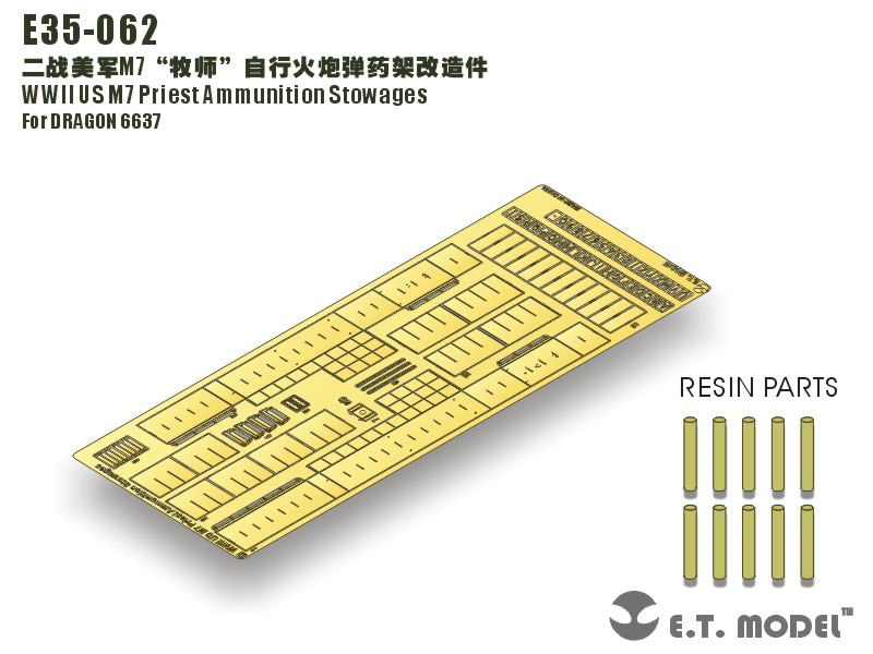 NOS M7 Sacerdote Munições Storages - E. T. MODELO E35-062
