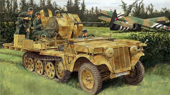 Sd.Kfz.10/5 pele 2cm FlaK 38 - DRAGÃO 6676