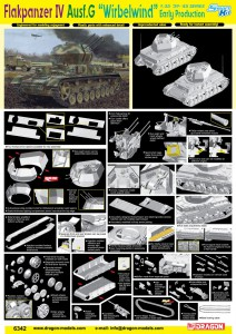 """Flakpanzer IV Ausf.G """"Wirbelwind"""" Early Production - DRAGON 6342"""