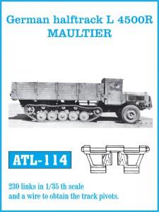 Tysk halftrack L 4500R MAULTIER - FRIULMODEL ATL-114