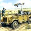le. gl. Einheits-Pkw (Kfz.2) - WWII German Radio Car - ICM 35522
