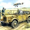 le. gl. Блока Pkw (Kfz.2) - WWII German Radio Car - ICM 35522