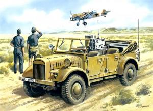 le. gl. Einheits-Pkw (Kfz.2) - WWII German Radio Car - ICM 35522