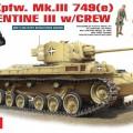 Pz.Kpfw. Mk.III 749(e) VALENTIN III w/ÉQUIPAGE - MINIART 35100