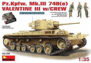 Pz.Kpfw. Mk.III 749(e) VALENTINE III w/POSÁDKY - MINIART 35100