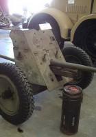 Nemški 37 mm Pak35-36 Anti-Tank Gun - Sprehod Okoli