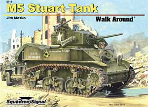 M5/M5A1 Stuart Walk Around - Squadron Signal SS5719
