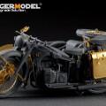 Zestaw niemiecki motocykl r-12 (Gwiazda 3607) - model Voyager PE35093