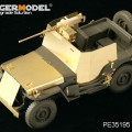 Stel AMERIKAANSE Jeep Willys MB w/Toevoegen Amour (TAMIYA 35219) - MODEL VOYAGER PE35195
