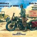 La segunda guerra mundial Motocicletas de Color Caminar Alrededor - Escuadrón Señal SS5707