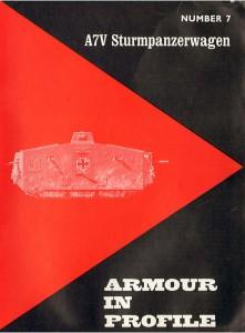 Desantowiec czołg A7V samochód Armour In Profile 007
