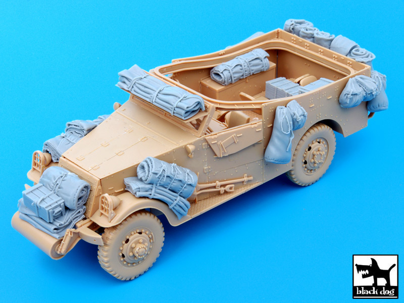 US M3 Scout Car accessories set - черная собака T35049