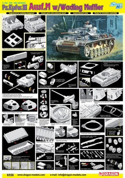 Pz.Kpfw.III Ausf.M w/Brodící tlumič - DML 6558