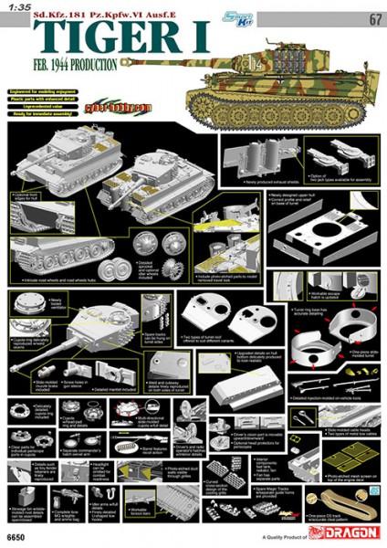 Sd.Kfz.181 Pz.Kpfw.VI Ausf.E Tiger I - Cyber Hobby 6650