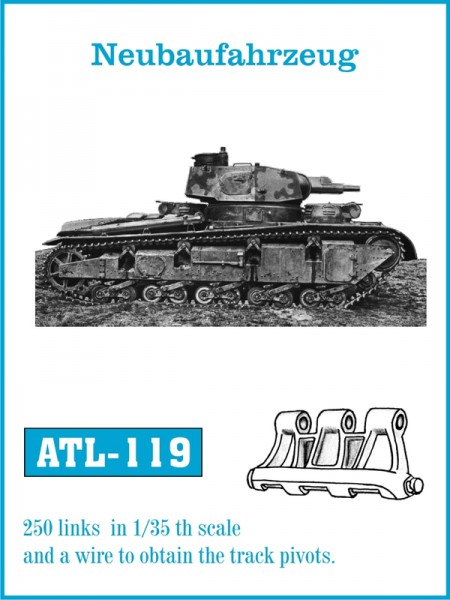 Tracks voor Neubaufahrzeug - Friulmodel ATL-119