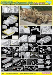 1/35 Sd.Kfz.10/5 w/Blindado Cab pele 2cm FlaK - DML 6677