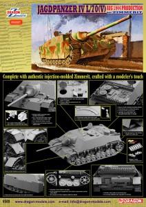 Jagdpanzer IV L/70(V) w/Zimmerit de Agosto de 1944 Produção - DML 6589