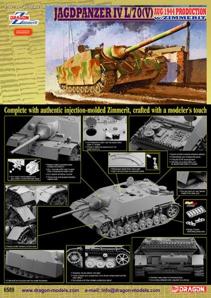 Jagdpanzer IV L/70(Β) w/Zimmerit Αύγουστος 1944 Παραγωγής - DML 6589