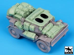 Dingo MK III Spejder Bil tilbehør til sæt - Sort Hund T35061