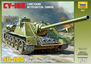 Sovětské samohybné Dělo Su-100 - Zvezda 3531