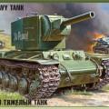 Szovjet Tank KV-2 - Zvezda 3608