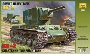 Soviética Tanque KV-2 - Zvezda 3608