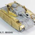 WWII tyska Pz.Kpfw.IV Ausf.J Schurzen - E. T. MODELL E35-091