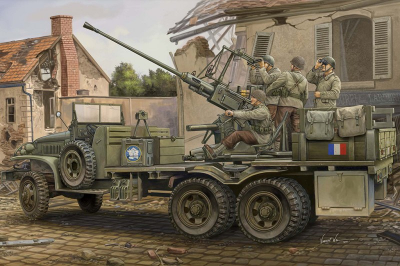 GMC Bofors 40 mm Zbraň - HOBBY BOSS 82459