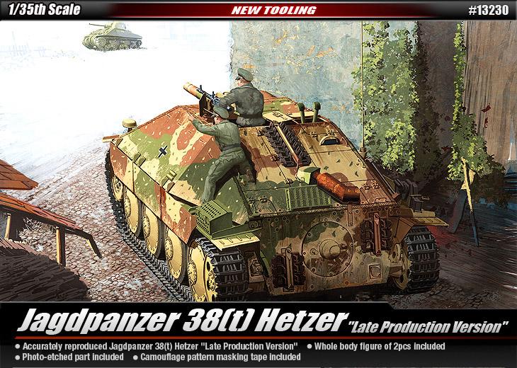 Jagdpanzer 38(t) Hetzer [Late Production Version] – 13230 ACADEMY