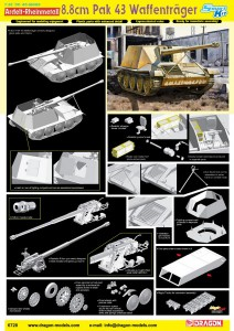 Ardelt-Rheinmetall 8.8cm Pak 43 Waffentrager - DML 6728