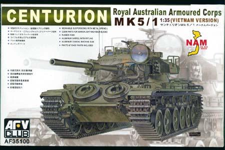 Centurion Mk 5 1 Raac Vietnam Version Afv Club 35100