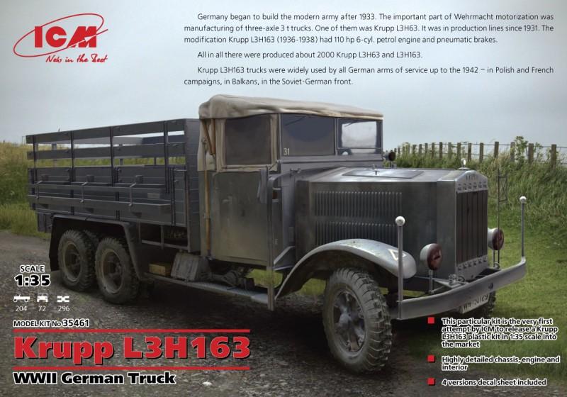 克虏宝 L3H163 WWII 德国陆军卡车 - ICM 35461