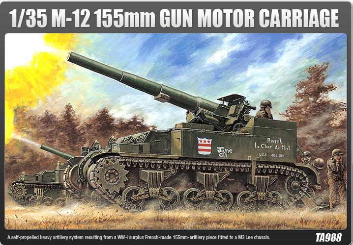 M-12 155mm GUN MOTOR CARRIAGE – ACADEMY 1394