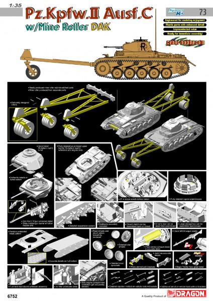 Pz. Kpfw.II Ausf. C w/Minun Rulla DAK Cyber Harrastus 6752