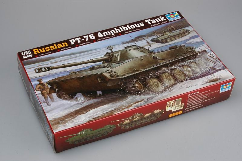 Russian PT-76 Light Amphibious Tank - Trumpeter 00380